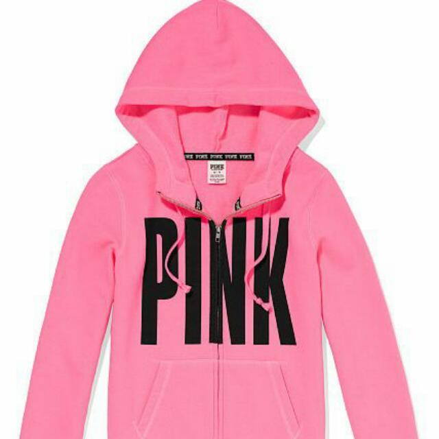 f5fe09d57c784 [PO]Victoria Secret Pink Zip Hoodie