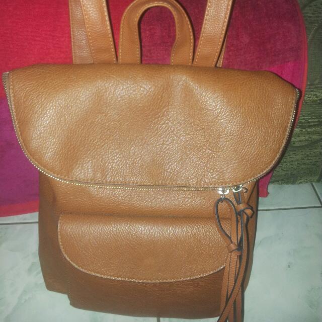 Pre Loved Orig Stradivarius Brown Leather Bag