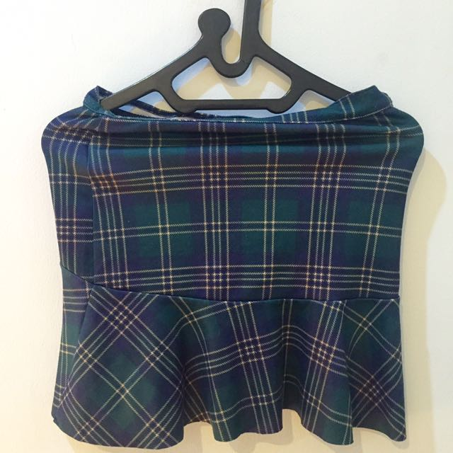 PRELOVED Stradivarius Mini Plaid Skirt