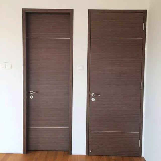 solid laminated bedroom doors with free delivery and installation hdbcondoecbtodbssresalerental furniture others on carousell - Bedroom Doors