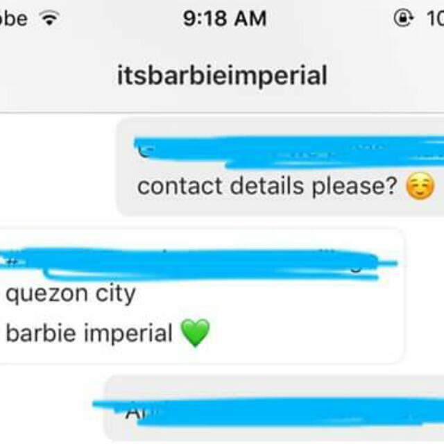 Proof!!! Yassi Benitez, Barbie Imperial And Uniform For Usherettes. 😍😍