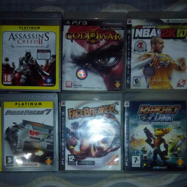ps3 games  choose 3 for only 500php
