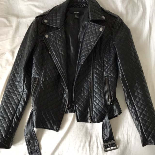 Quilted Pleather Jacket