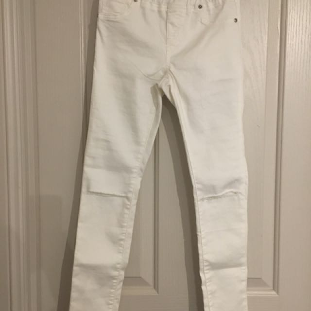Seed Ripped Pull On Jeans