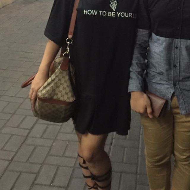 "simple tee black dress ""How to be your Luv"""