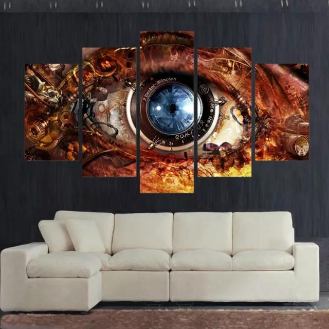 Steampunk Eye Canvas Print Paintings Wall Art Wall Decor Furniture Home Decor On Carousell