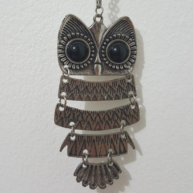 Steel Owl Necklace