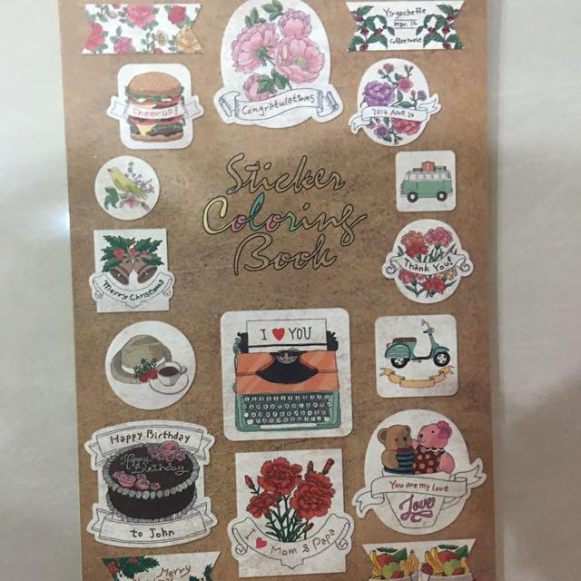 Sticker Coloring Books