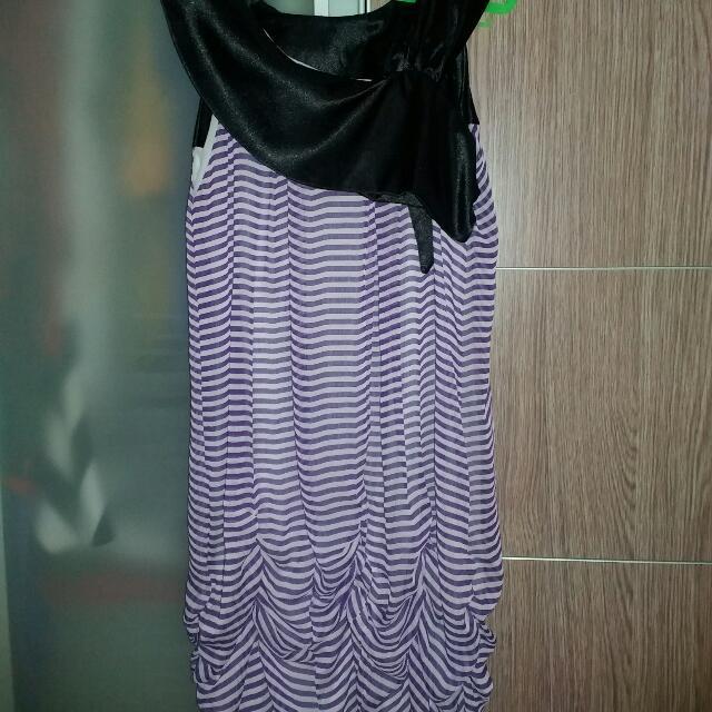 Strip Purple Mini Dress