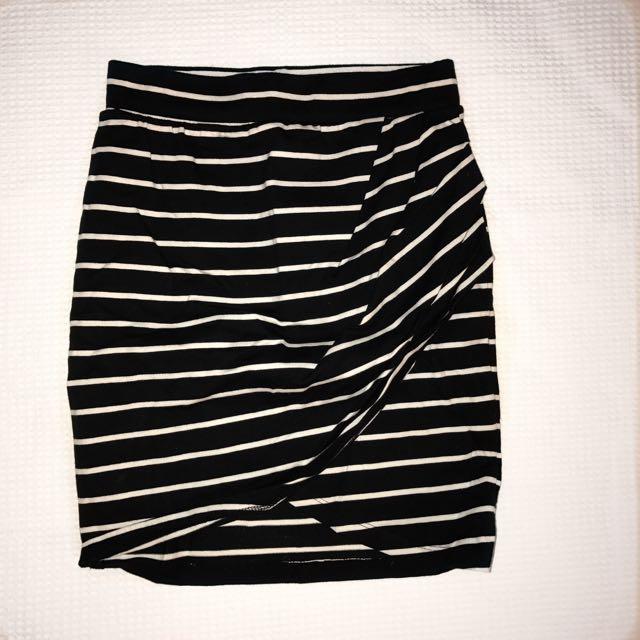 Striped Cross Skirt