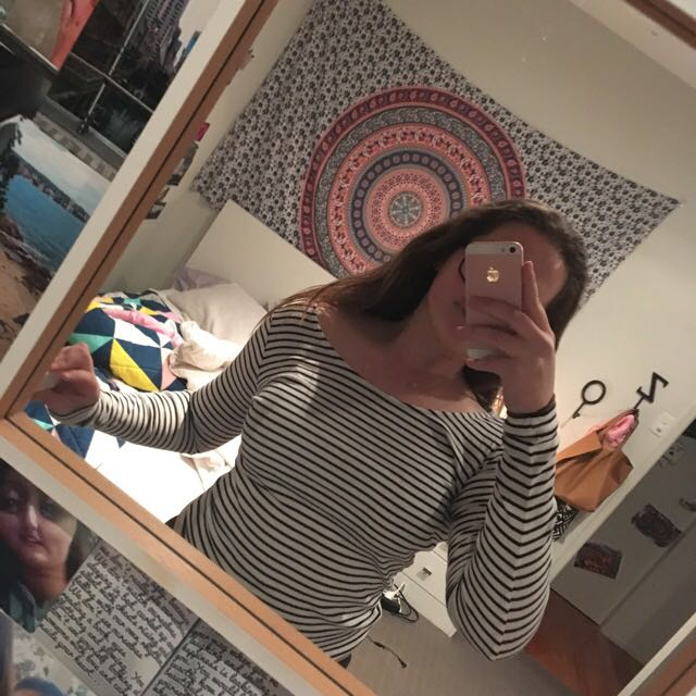 stripy long sleeved shirt