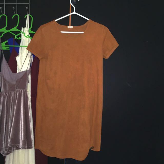 Suede Garage Tshirt Dress