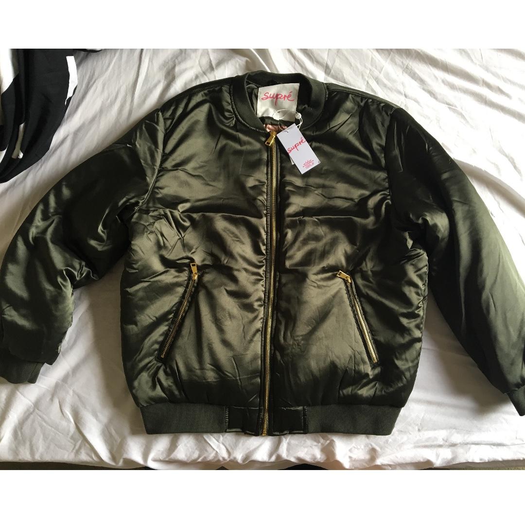 Supré Soft Satin Bomber Jacket Size S/M