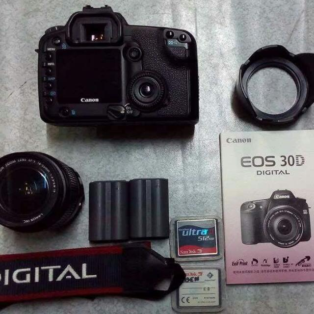 (SWAPPP:)CANON EOS 30D COMPLETE SET WITH BOX.