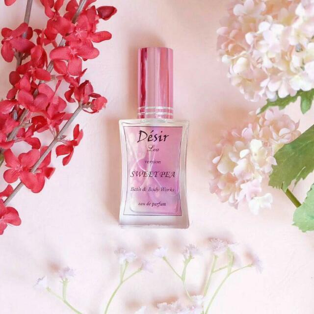 Sweet Pea (Bath &  Body Works)   This scent is very playful and sweet.  It's light, not overbearing and delicately floral.   Available in 30 & 50 ml.   PM me for queries.