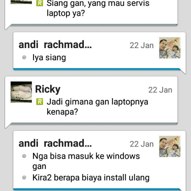 Testimoni Ganti Hard Disk Rusak Dan Install Windows Done