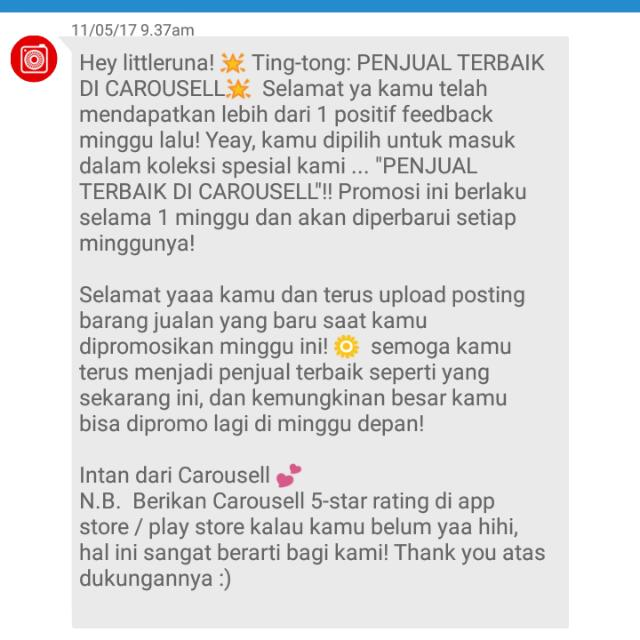 Thank You Carousell 😘😘