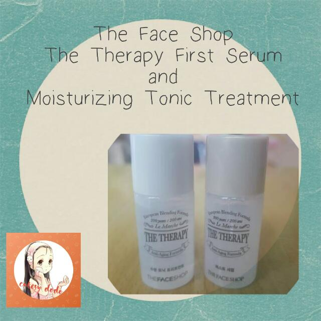 The Face Shop The Therapy First Serum             and Moisturizing Tonic Treatment