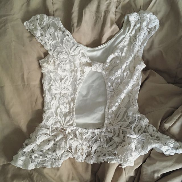 U2KLA White Lace Top