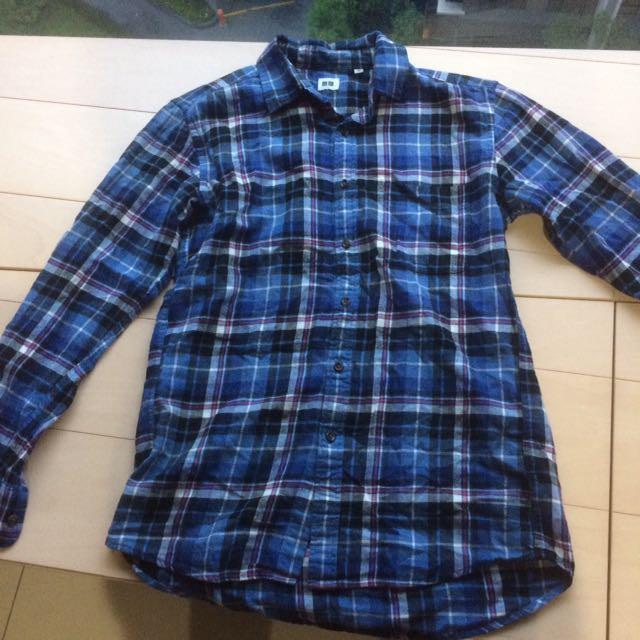 UNIQLO 棉麻長袖襯衫
