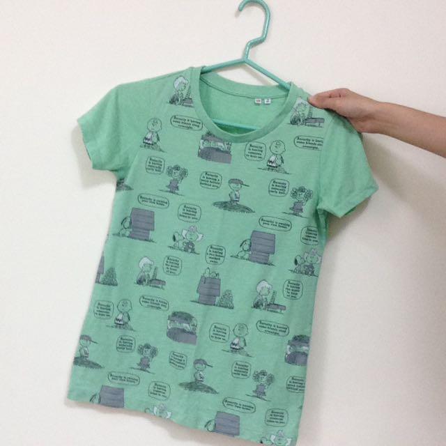 Uniqlo Snoopy短袖T恤