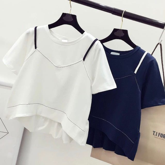 white dual top