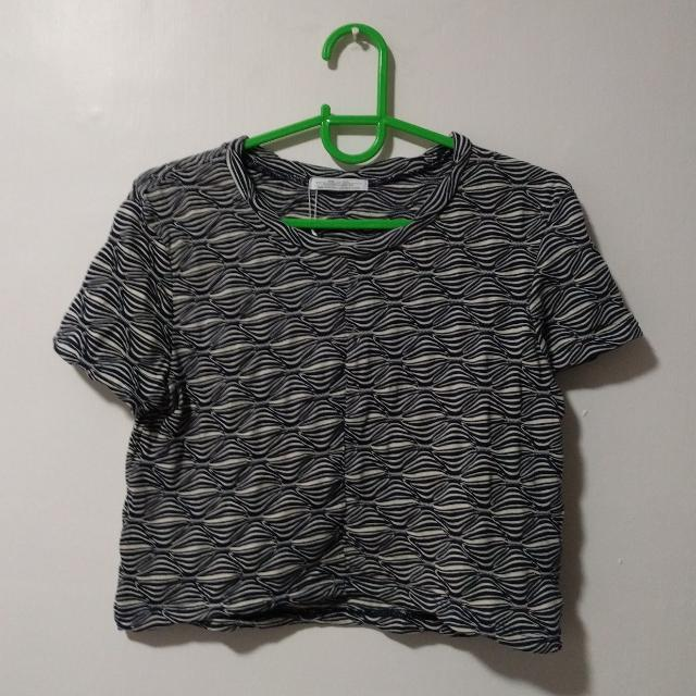 ZARA Patterned Cropped Top