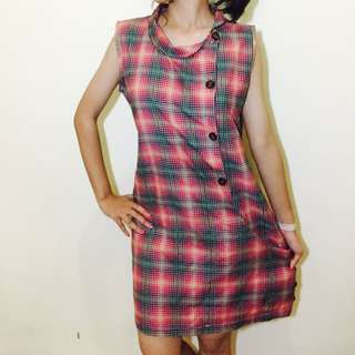 DRESS KOTAK KOTAK CUTE