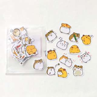 Hamstamp Fat Hamster Stickers Pack Of 40 Assorted Designs