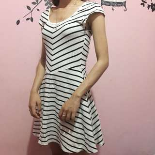 Divided Stripes Dress By H&M