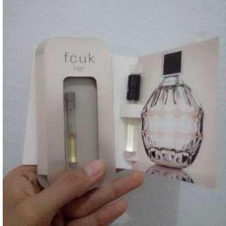 Vial perfume jimmy choo + fcuk for her