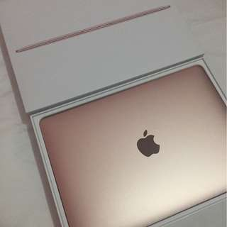 new macbook rosegold 256GB
