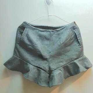 大衣材質 人魚挺版高腰短褲