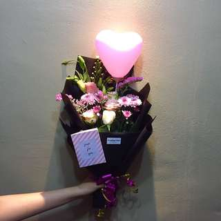 Flower And Chocolate Bouquet