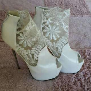 White Wedding  High Heels