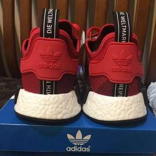 Adidas 愛迪達 NMD 幾何紅色 男鞋