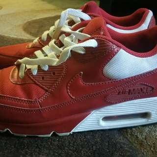 Nike Air Max Red And White Size 9.5