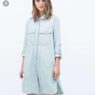 Zara Premium Denim Collection Dress