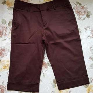 Arnesso Basic Pants size S / 26 Color : Dark Brown