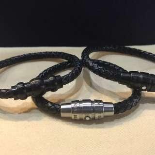 Mont Blac leather Bracelet