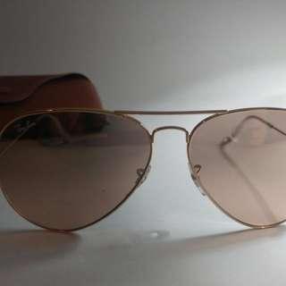 Rose Gold Aviator Ray Ban Sunglasses