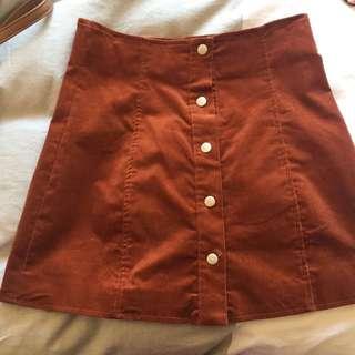 Cord Tan Skirt