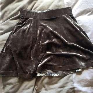 Topshop Petite Velvet Skirt