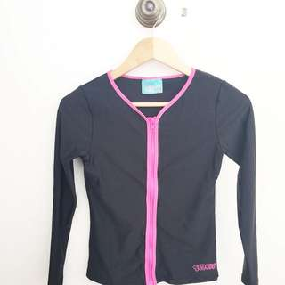 Black and Pink Windbreaker/Waterproof Jacket- Girls