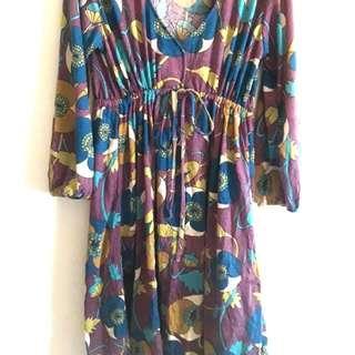 Empirecut Printed Dress