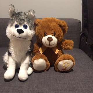 Stuffed Wolf And Bear