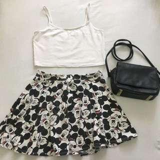 F21/Disney Skater Skirt