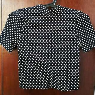 Forever 21 Polkadotted Crop Top