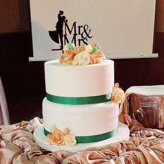 Custom Fondant Wedding Cake