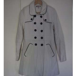 White Coat Jacket with Black detailing